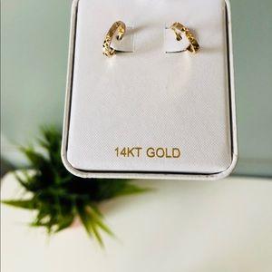 Jewelry - 14K huggie hoop earrings